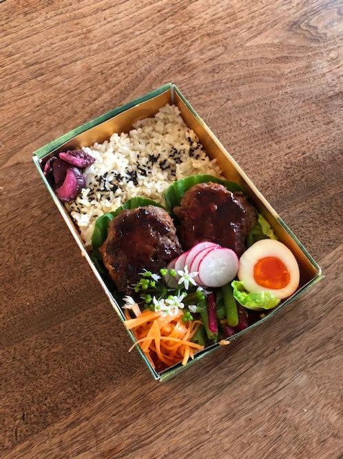 ハンバーグ弁当 Beef Hamburg Bento