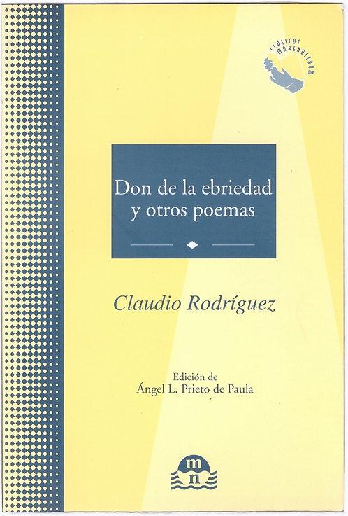 Don de la ebriedad y otros poemas