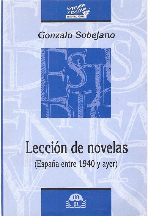 Lección de novelas (España entre 1940 y ayer)