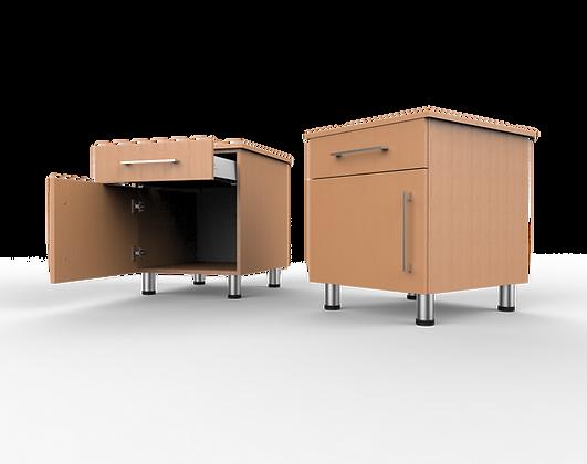Bedroom Cabinet - 1 Door/1 Drawer Bedside Unit