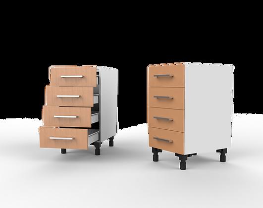 Kitchen Cabinet - 4 Drawer Floor Unit