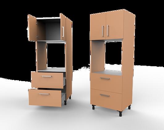 Kitchen Cabinet - 2 Door / 2 Drawer Single E.L.O. Unit