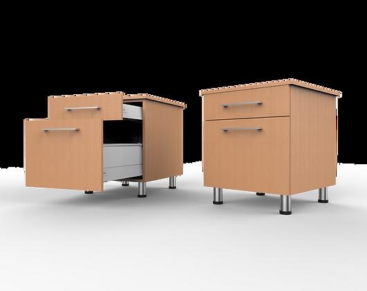 Bedroom Cabinet - 2 Drawer Bedside Unit