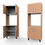 Thumbnail: Kitchen Cabinet - 4 Door Single E.L.O. Unit