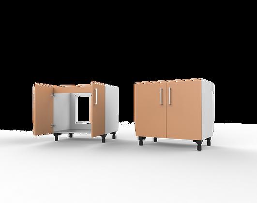 Kitchen Cabinet - 2 Door Sink Unit