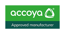 Accoya_Affiliate mark_Approved manufacturer_WHITE ON GREEN_RGB.png