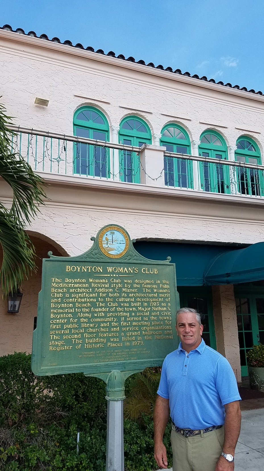 Dan Martucci at Boynton Woman's Club