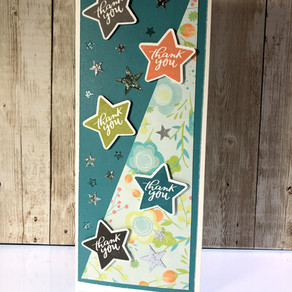 Slimline Thank You Stars - Stamp of the Month!