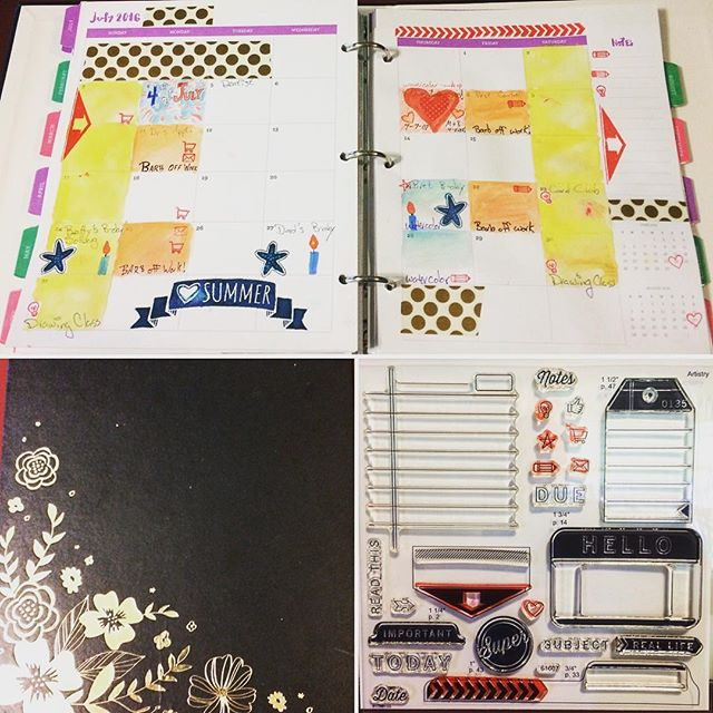 My July planner at the beginning of the month #ctmhconsultant #planneraddict