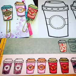 #ctmh crafting weekend!  I stamped on white watercolor paper, fussy cut them out and glued either a