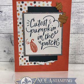 Cutest Pumpkin in the patch Card