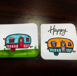 I had a fun stamping #ctmh lunch today - working with my new shin-Han markers and playing around wit