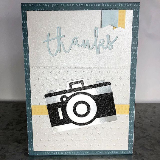 Playing around with some thank you cards