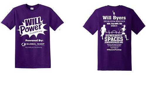 (Short sleeve) WILL Power Marathon/Makeover T-shirt