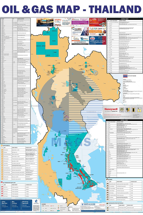 Oil & Gas Map - Thailand (ADV)