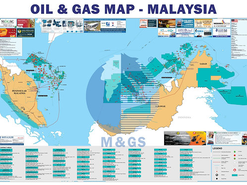 Oil & Gas Map - Malaysia (ADV)