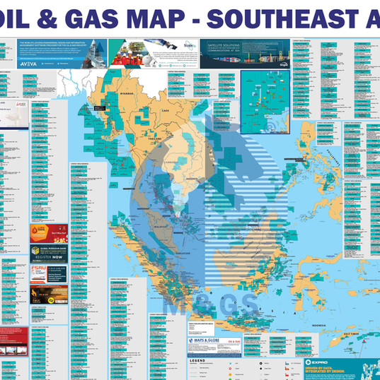 Oil & Gas Map - Southeast Asia
