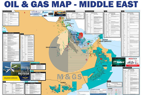 Oil & Gas Map - Middle East (ADV)