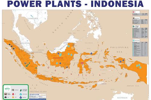 Maps Globe Specialist Power Plants Map Indonesia