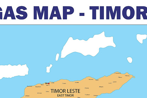 Oil and Gas Map - Timor Leste