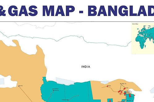Oil and Gas Map - Bangladesh