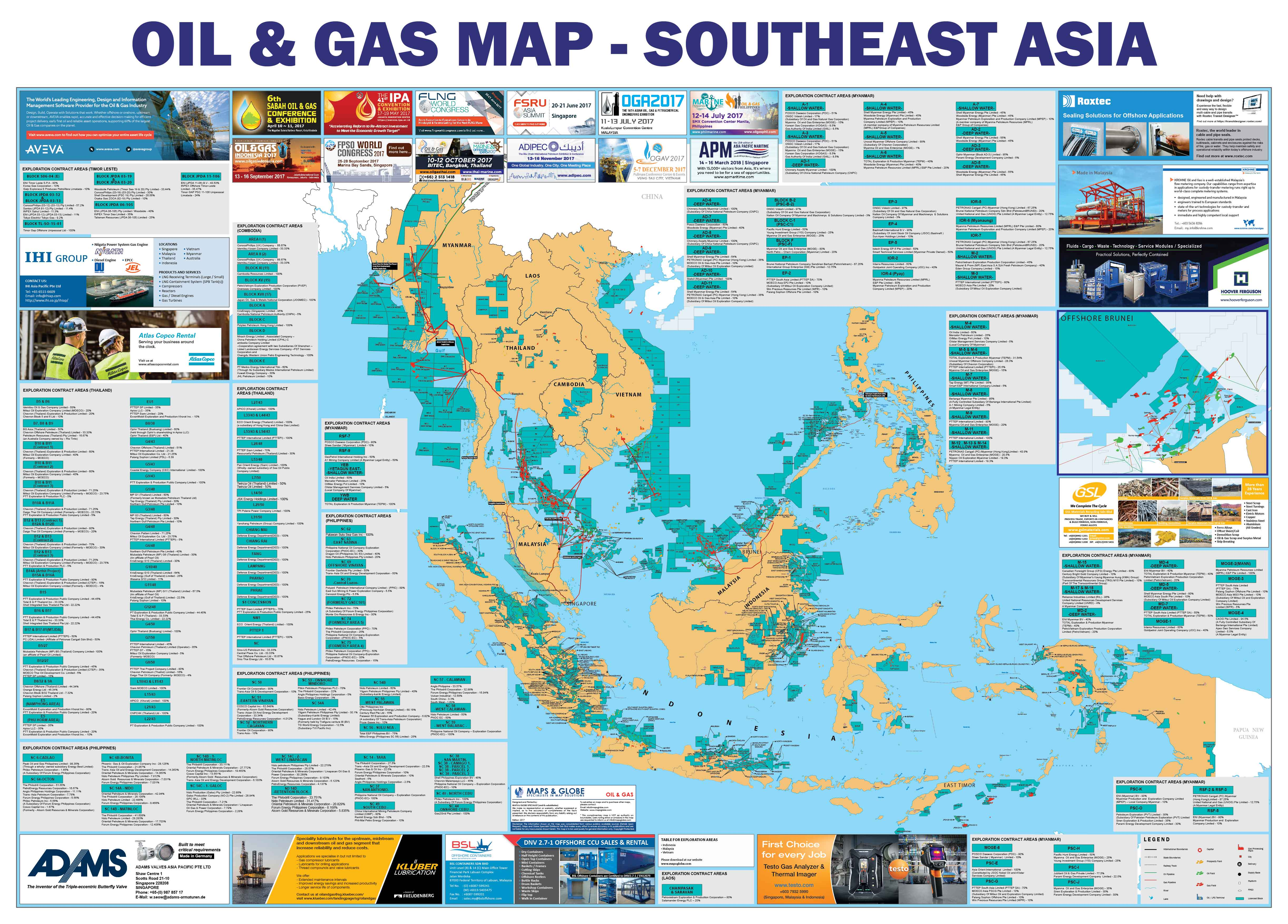 Oil and Gas Map - Southeast Asia