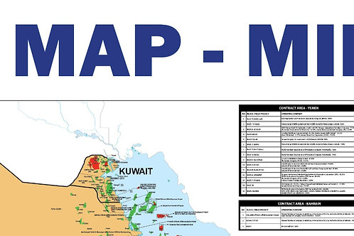 Oil and Gas Map - Middle East