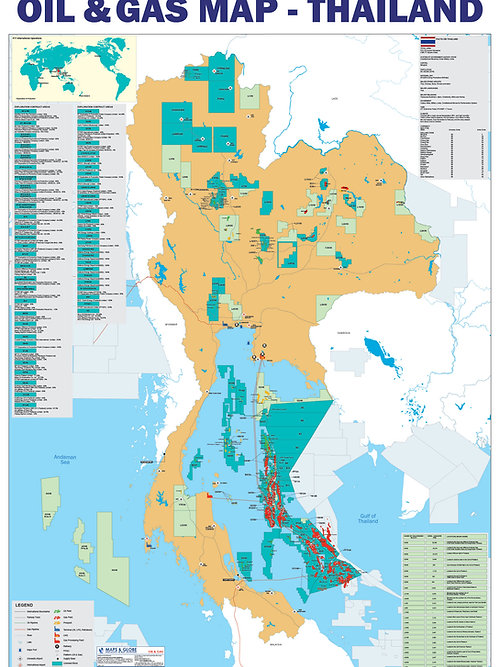Maps Globe Specialist Oil And Gas Map Thailand - Gas map