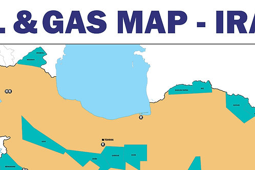 Oil and Gas Map - Iran
