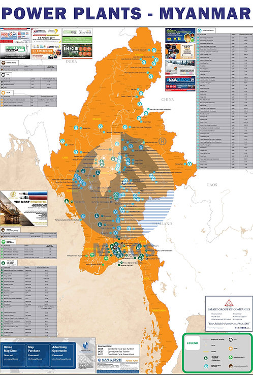 Power Plant Map - Myanmar (ADV)