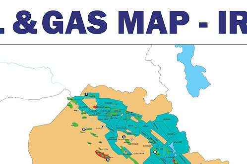 Oil and Gas Map - Iraq