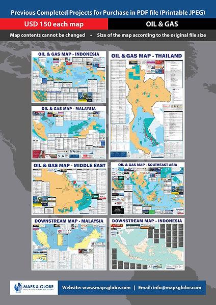 M&GS - A4 Past Map Sale Flyer - Oil & Ga