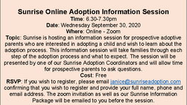 Online Adoption Information Session