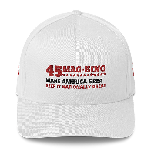 MAG KING Structured Twill Cap White