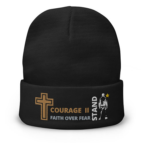 Embroidered Beanie Courage II Stand