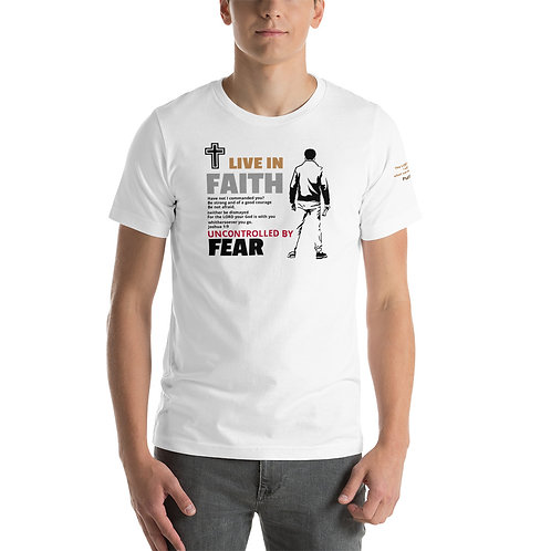 LIVE IN FAITH, UNCONTROLLED BY FEAR (Light Colors)   -   T-Shirt