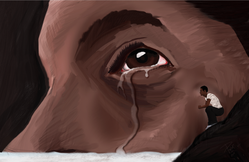 The tears of determination