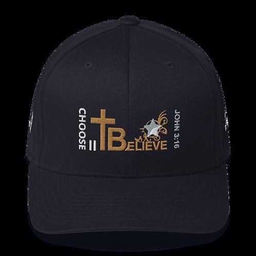 CHOOSE II Believe  -  FlexFit Structured Twill Cap (Multi-colors)