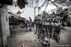 Reportage garage automobiles
