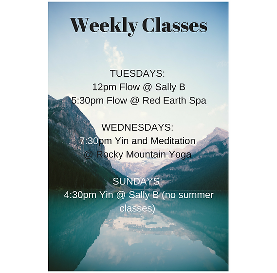banff yoga class