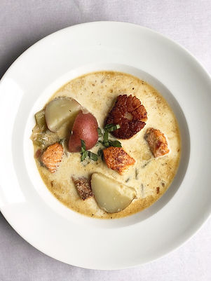 Salmon and Scallop Chowder
