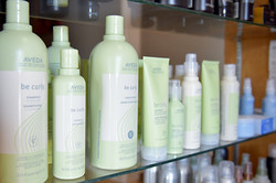 We offer Aveda products.
