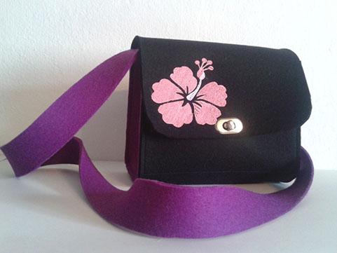 Handtasche Hibiskus