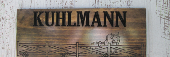 Personalized Farm Sign, Custom Cattle Ranch Sign, F103