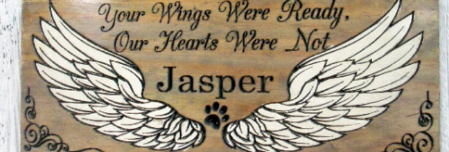 Your Wings were Ready Pet Memorial Sign, Custom Remembrance Sign, MER101
