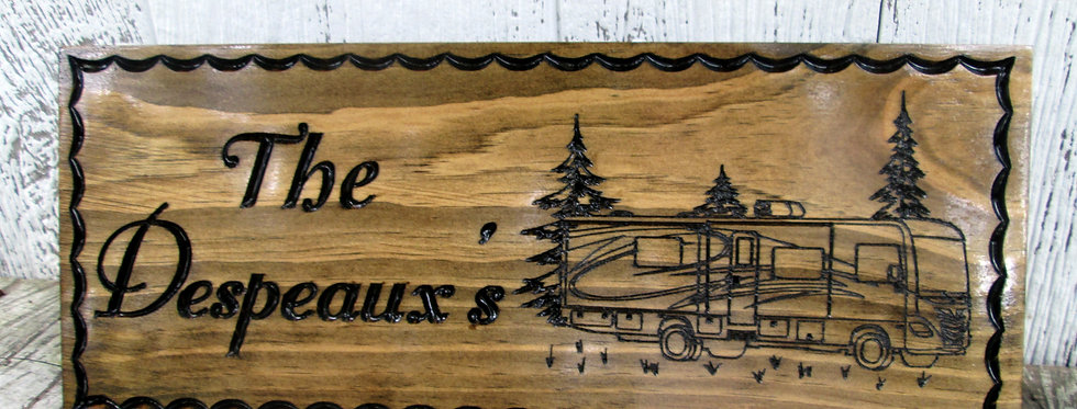 Class A Camper Sign, Custom Camper Sign, Family Campsite, C115