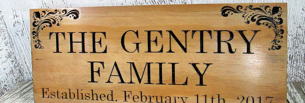 Family Last Name Established Sign, Couples Gift, E107
