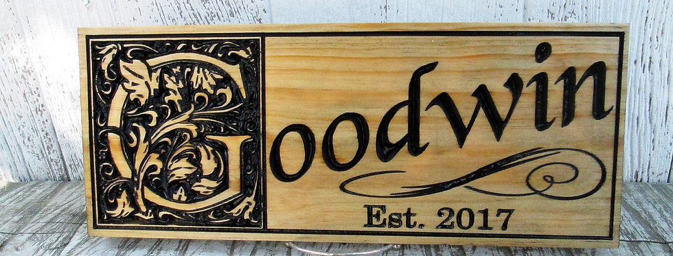 Family Name Sign, Last Name Established Sign, Custom Carved Sign, E110