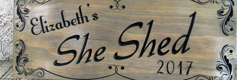 Custom She Shed Sign, Personalized Her Place, Craft Room Decor, SS100