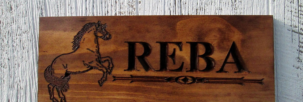 Personalized Horse Ranch Sign, Custom Horse Stable Sign, F107